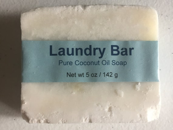 Laundry Bar, Unscented, Cold Process Soap, 5 oz. (142 g.)