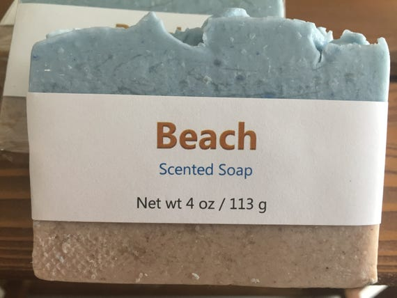 Beach Type Scented Cold Process Soap with Shea Butter