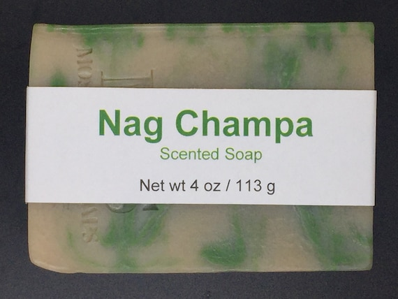 Nag Champa Scented Cold Process Soap with Shea Butter, 4 oz / 113 g bar