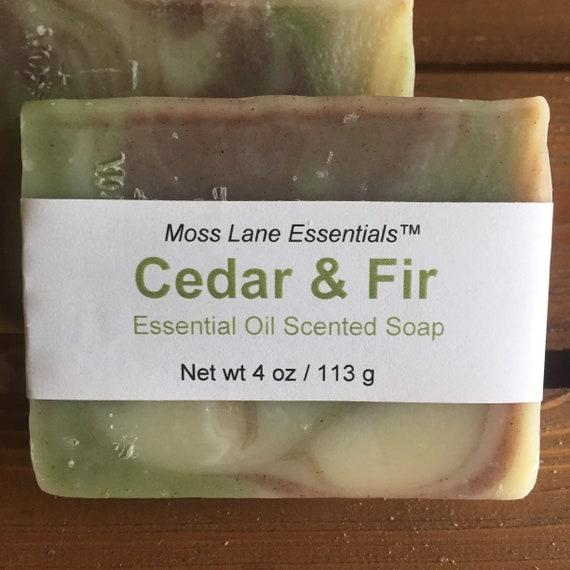 Balsam Fir and Cedarwood Essential Oil Scented Cold Process Soap