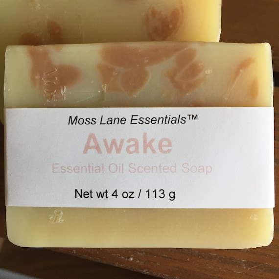 Awake--Lime, Eucalyptus and Thyme Essential Oil Scented Cold Process Soap with Shea Butter