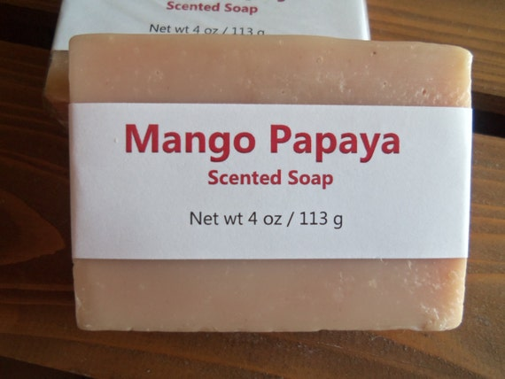 Mango Papaya Scented Cold Process Soap with Shea Butter