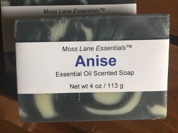 Anise Essential Oil Cold Process Soap with Shea Butter, 4 oz / 113 g bar