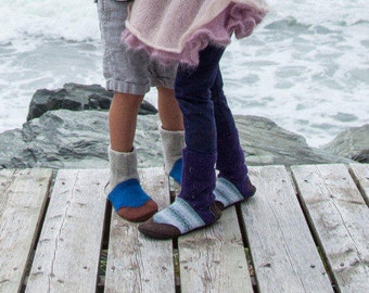 Kids Slippers, Kids wool slippers, felted slippers, Children slippers, kids shoes, toddler moccasin, Kids 3-10 yrs - made to order