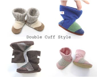 Wool baby boots, baby slippers, baby moccs, baby booties, baby shoes, felt slippers, house shoes, baby shower gifts,  Custom made FAST ship