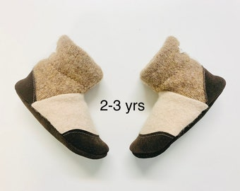 Felted slippers, wool slippers, kids boots, wool, moccasins, organic, wool, bamboo, kids house shoes, toddler 8 shoe, 2/3 years, ecofriendly