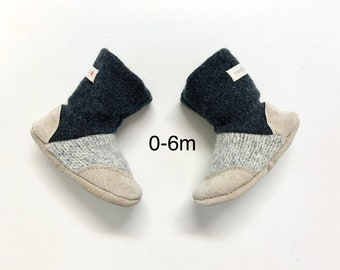 baby boots, newborn, baby booties, baby slippers, organic, bamboo, felted wool slipper, baby shoes, booties, baby shower, baby gift, 0-6m