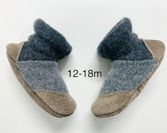 Toddler slippers, baby slipper boots, organic baby, warm baby slippers, felted house shoes, baby shoes, warm slippers, neutral baby shoes