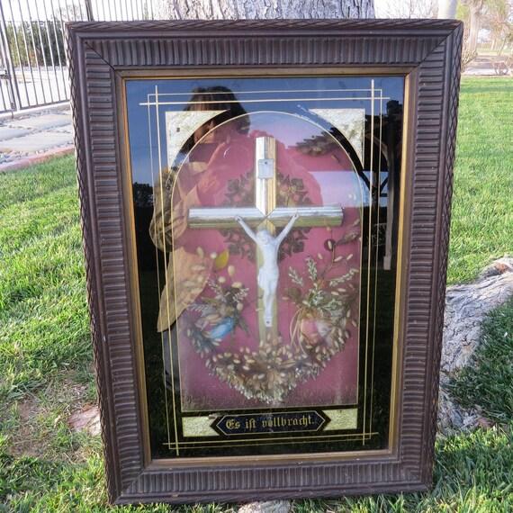 Ilove UE Anneau en acier inoxydable bande Bague en Argent Noir le Christ J/ésus Crucifix Croix corde Plaque r/étro homme