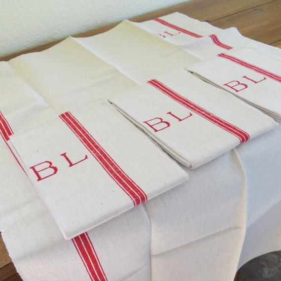 Set di asciugamani di lino francese antico della etsy - Bagno turco controindicazioni ...