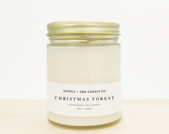 CHRISTMAS FOREST Candle, Fall Candle, Winter Candle, Christmas Candle, Pine Candle, Balsam Candle, Cedar Candle   Wholesale, Bulk Order