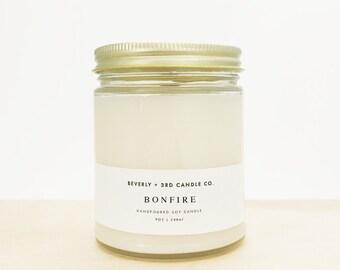 BONFIRE Candle, Summer Candle, Fall Candle, Autumn Candle, Winter Candle, Campfire Candle, Wood Wick Candle   Wholesale, Bulk Order