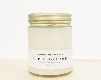 APPLE ORCHARD Candle, Fall Candle, Autumn Candle, Macintosh Apple Candle, Rustic Candle, Farmhouse Candle   Wholesale, Bulk Order