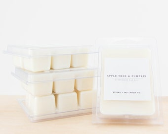 APPLE TREE & PUMPKIN Soy Wax Melts   Scented Soy Tarts, Soy Candle Melt, Scented Wax Cubes   Wholesale, Bulk Order