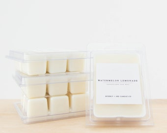 WATERMELON LEMONADE Soy Wax Melts | Scented Soy Tarts, Soy Candle Melt, Scented Wax Cubes