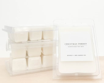 CHRISTMAS FOREST Soy Wax Melts   Scented Soy Tarts, Soy Candle Melt, Scented Wax Cubes   Wholesale, Bulk Order