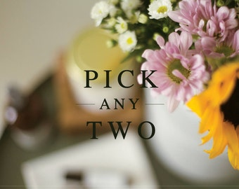 PICK ANY TWO: Scented, Hand Poured, Wood Wick 9oz Soy Candle, Wax Melt, Wax Cubes, Wax Tarts, Air & Linen Mist   Gift