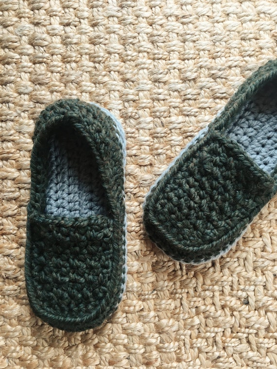 Fathers Day Loafers Crochet Mens Slippers Crochet Etsy