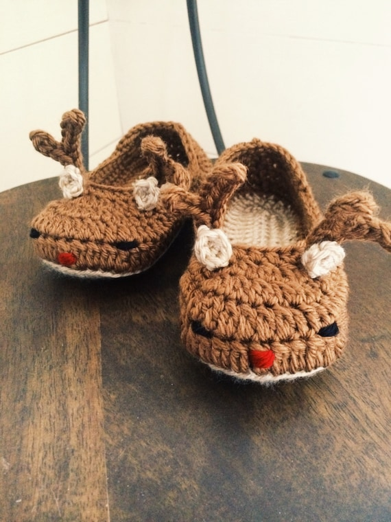 Peuterkind Rendieren Slippers Rudolph The Red Nosed Etsy