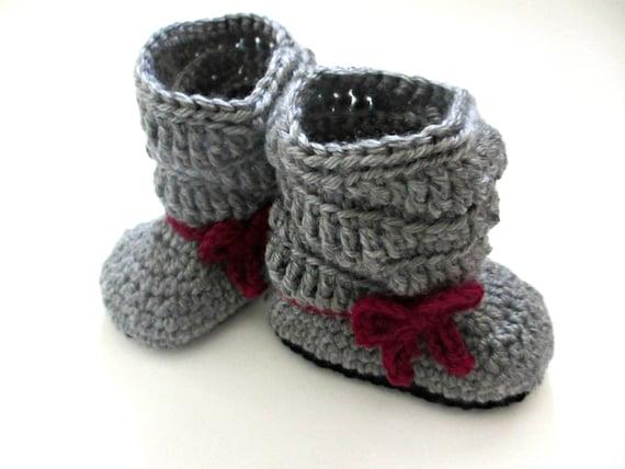 Baby-Schuhe Stiefel Baby Schleife slouchy kleine Mädchen   Etsy