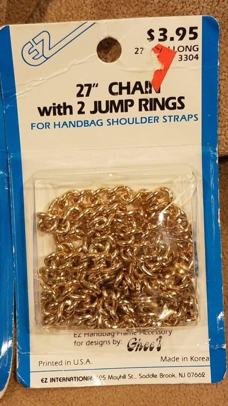 EZ 27 Chain w Jump Rings Ghees Handbag Frame Accessory Gold or Silver