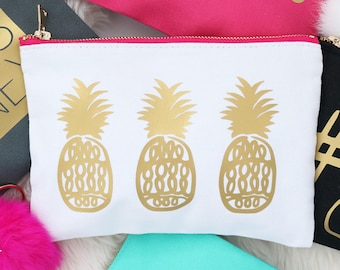 4f680486098d Pineapple makeup bag | Etsy