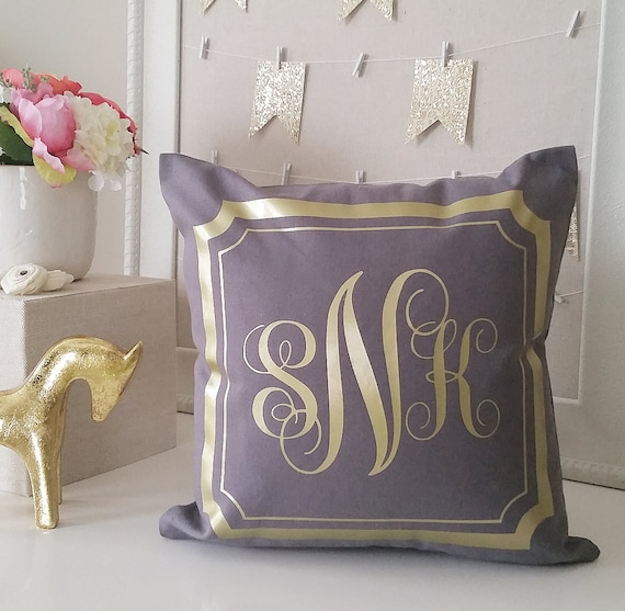 Monogrammed Throw Pillow Covers
