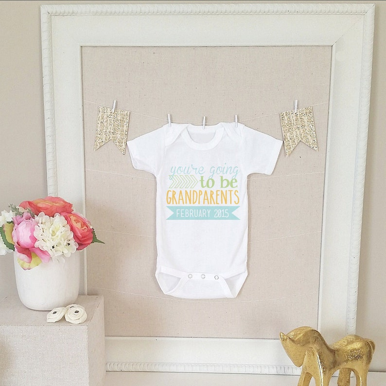 Grandparents Baby Shirt Shower First Birthday Gift For Infant