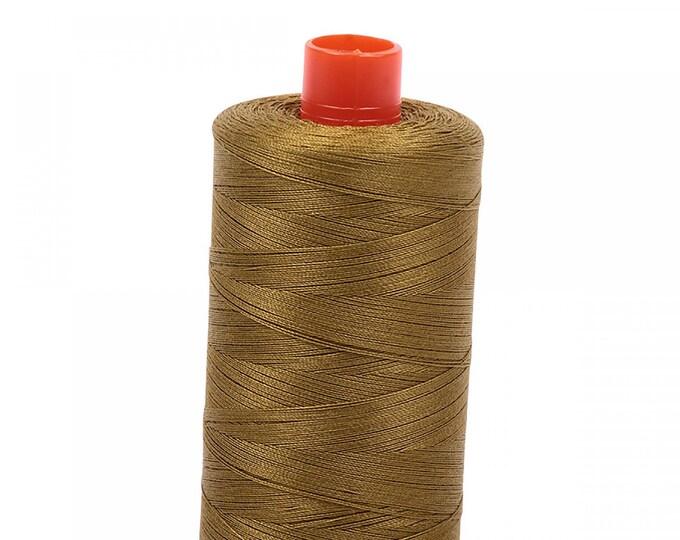 AURIFIL MAKO 50 Wt 1300m 1422y Color 2910 Medium Olive Cotton Quilting Thread
