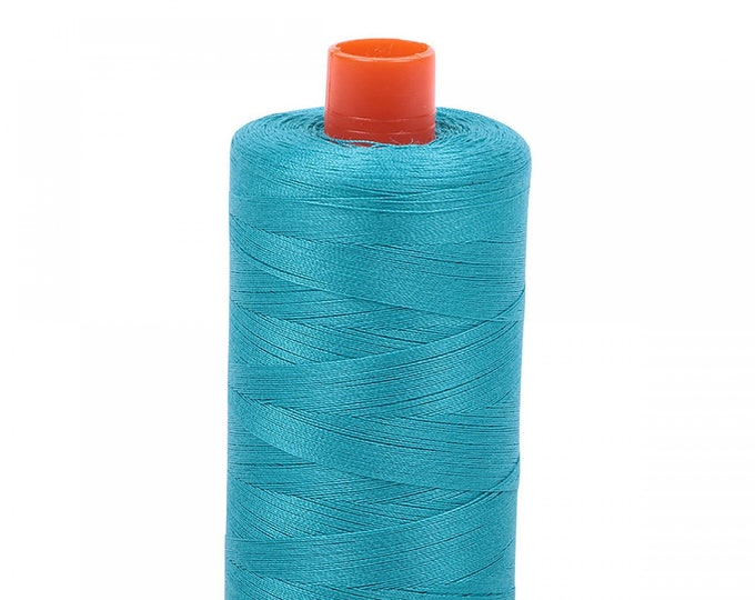 AURIFIL MAKO 50 Wt 1300m 1422y Color 2810 Turquoise Quilt Cotton Quilting Thread
