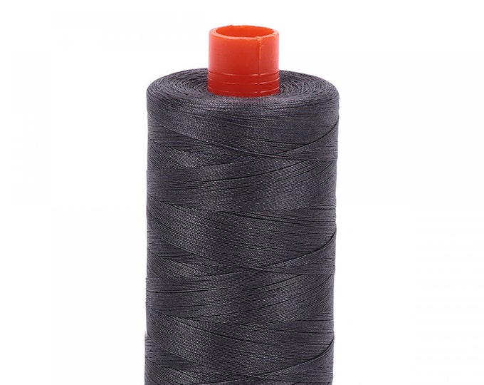 AURIFIL MAKO 50 Wt 1300m 1422y Color 2630 Pewter Quilt Cotton Quilting Thread