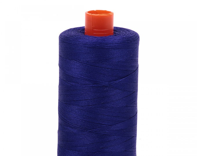 AURIFIL MAKO 50 Wt 1300m 1422y Color 1200 Blue Violet Quilt Cotton Quilting Thread