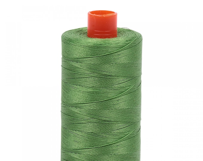 AURIFIL MAKO 50 Wt 1300m 1422y Color 1114 Grass Green Green Quilt Cotton Quilting Thread