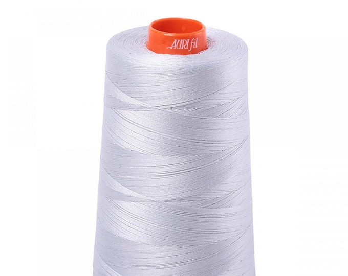 AURIFIL Cone MAKO 50 Wt 5900 Meters 6452 Yds Color 2600 Dove Quilt Cotton Quilting Thread