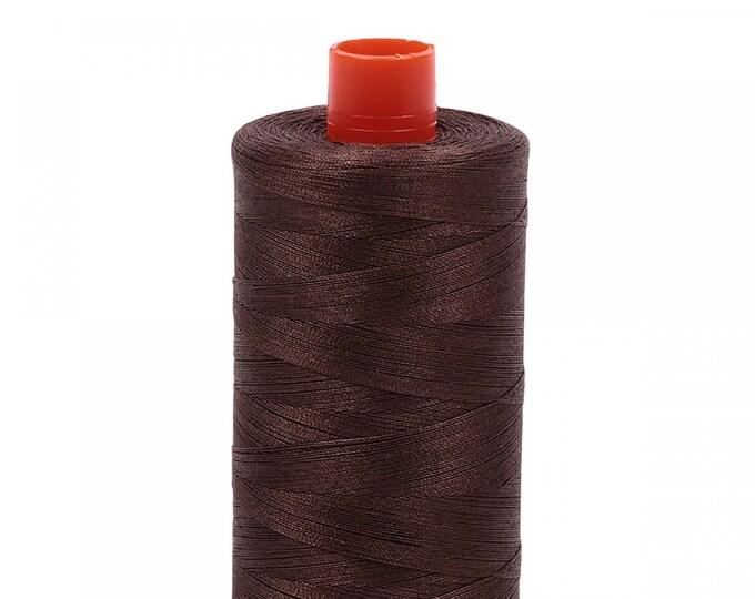 AURIFIL MAKO 50 Wt 1300m 1422y Color 1140 Bark Brown Quilt Cotton Quilting Thread