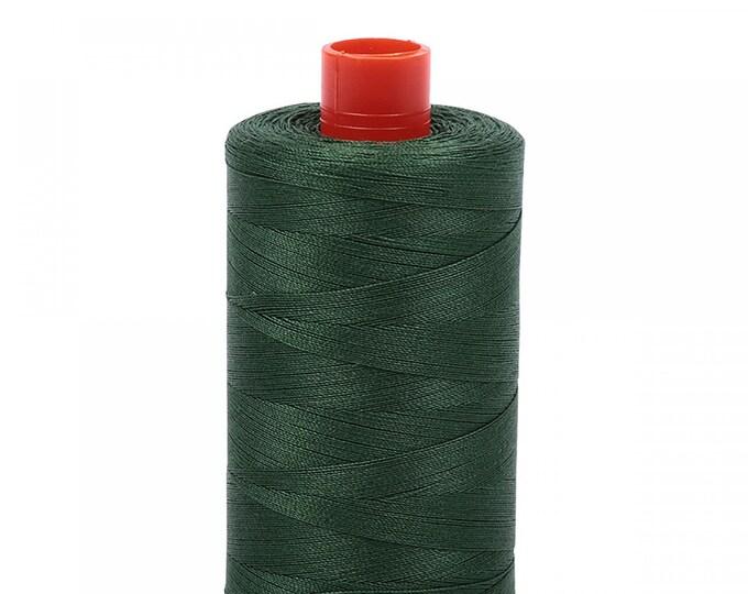 AURIFIL MAKO 50 Wt 1300m 1422y Color 2892 Pine Quilt Cotton Quilting Thread