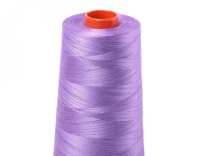 AURIFIL Cone MAKO 50 Wt 5900 Meters 6452 Yds Color 2520 Violet Quilt Cotton Quilting Thread