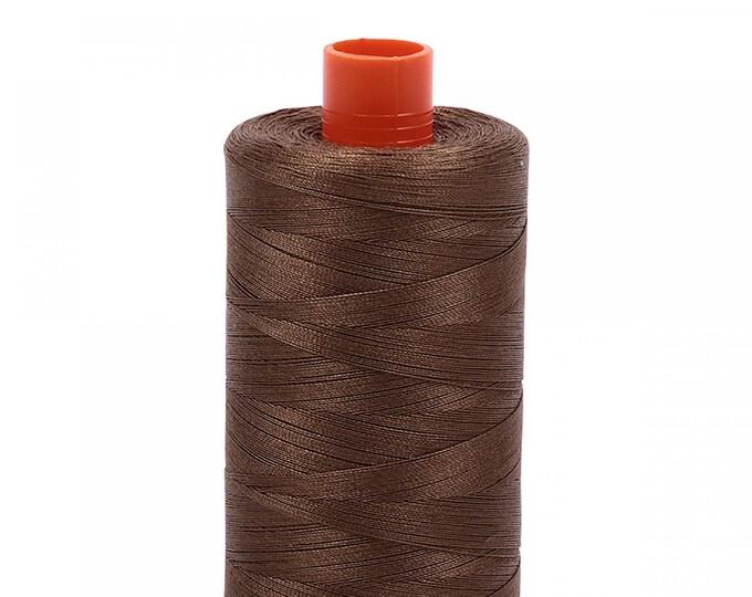 AURIFIL MAKO 50 Wt 1300m 1422y Color 1318 Dark Sandstone Quilt Cotton Quilting Thread
