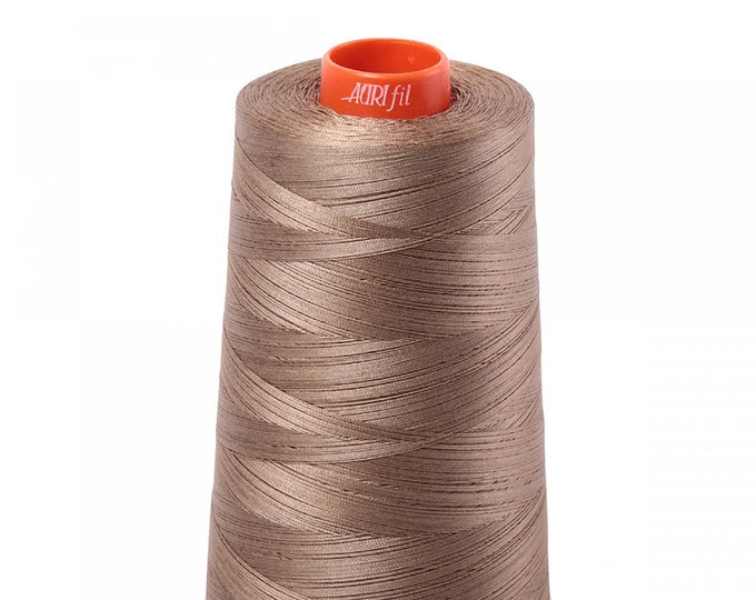 AURIFIL Cone MAKO 50 Wt 5900 Meters 6452 Yds Color 2370 Sandstone Quilt Cotton Quilting Thread