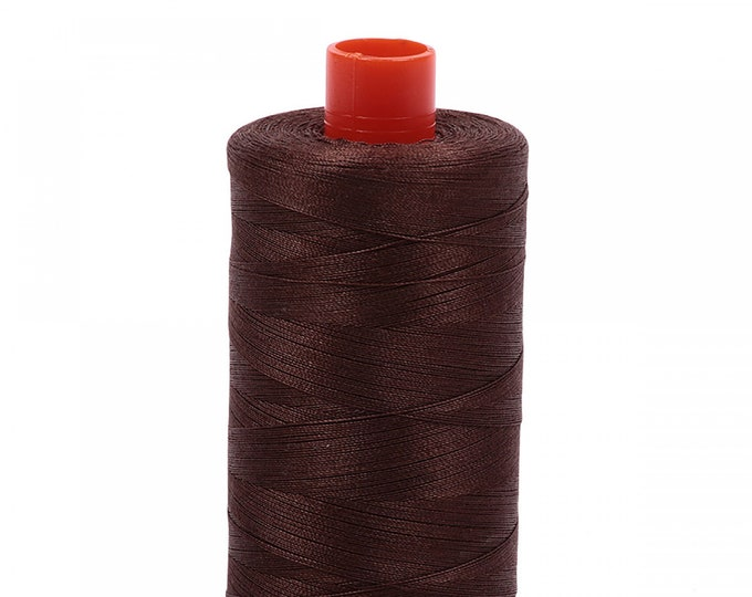 AURIFIL MAKO 50 Wt 1300m 1422y Color 1285 Medium Bark Quilt Cotton Quilting Thread