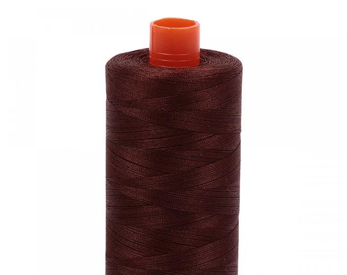 AURIFIL MAKO 50 Wt 1300m 1422y Color 2360 Chocolate Quilt Cotton Quilting Thread