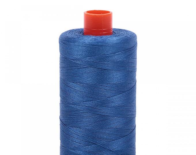 AURIFIL MAKO 50 Wt 1300m 1422y Color 2730 Delft Blue Quilt Cotton Quilting Thread