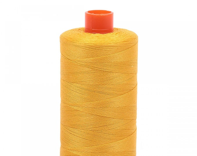 AURIFIL MAKO 50 Wt 1300m 1422y Color 2135 Yellow Quilt Cotton Quilting Thread