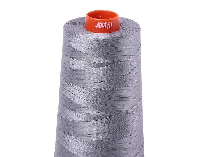 AURIFIL Cone MAKO 50 Wt 5900 Meters 6452 Yds Color 2605 Gray Quilt Cotton Quilting Thread