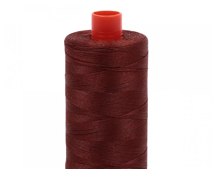 AURIFIL MAKO 50 Wt 1300m 1422y Color 4012 Copper Brown Cotton Quilting Thread