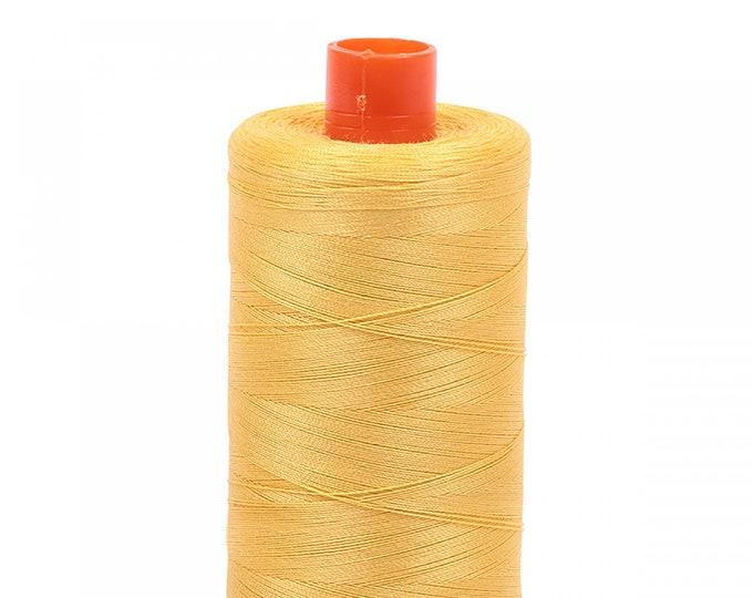 AURIFIL MAKO 50 Wt 1300m 1422y Color 1135 Pale Yellow Quilt Cotton Quilting Thread