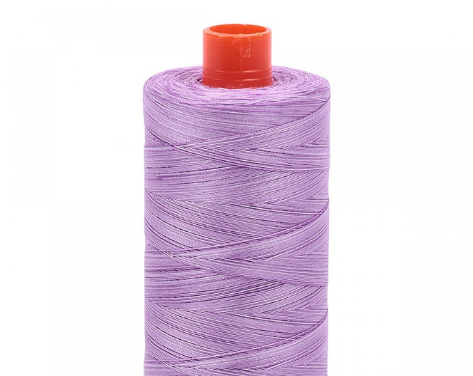 AURIFIL MAKO 50 Wt 1300m 1422y Color 3840 French Lilac Variegated Quilt Cotton Quilting Thread