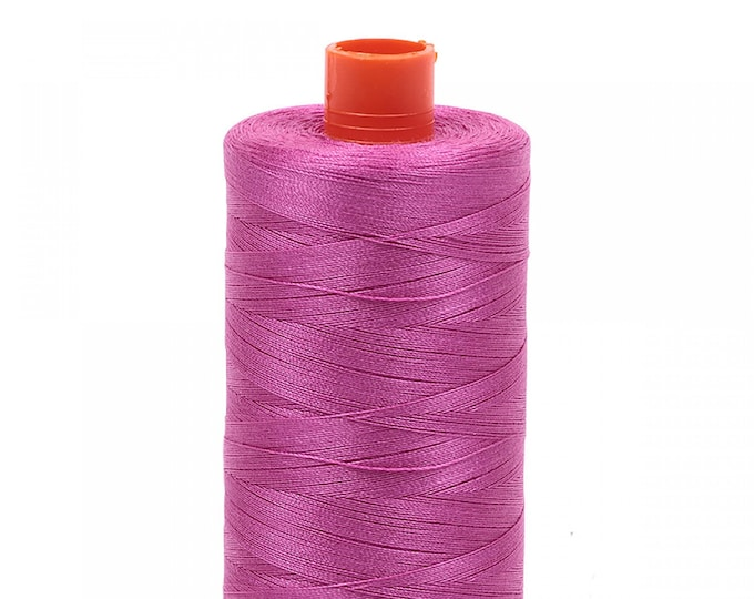 AURIFIL MAKO 50 Wt 1300m 1422y Color 2588 Light Magenta Quilt Cotton Quilting Thread