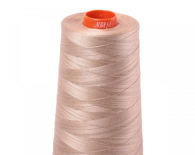 AURIFIL Cone MAKO 50 Wt 5900 Meters 6452 Yds Color 2314 Beige Quilt Cotton Quilting Thread
