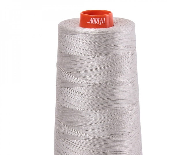 AURIFIL Cone MAKO 50 Wt 5900 Meters 6452 Yds Color 6724 Moonshine Quilt Cotton Quilting Thread